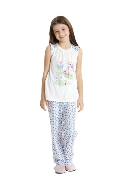Dagi Modal Fil Baskılı Kolsuz 0 Yaka Pijama Takım 1103