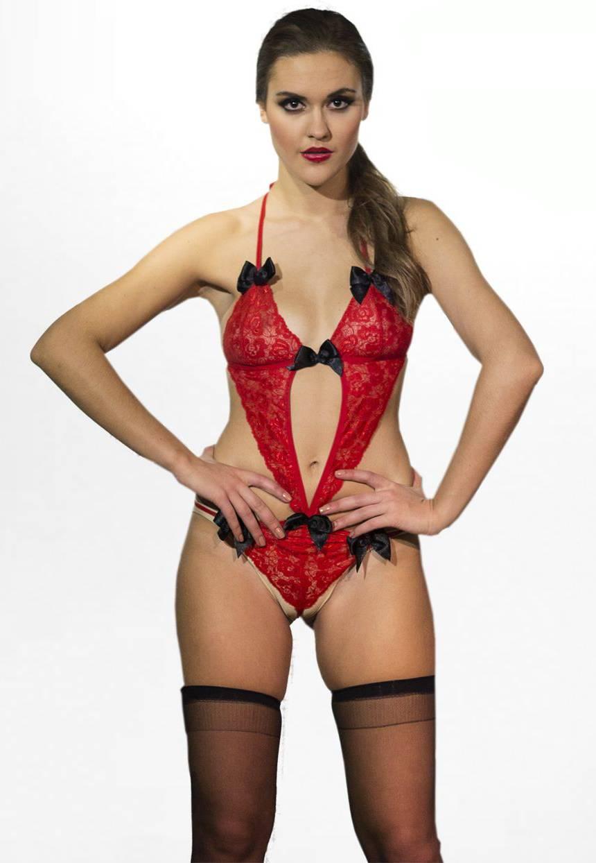 rednight body görünümlü transparan kostüm 12024