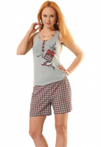 Anıt İç Giyim Poplin Terlik Şort Takım 4364