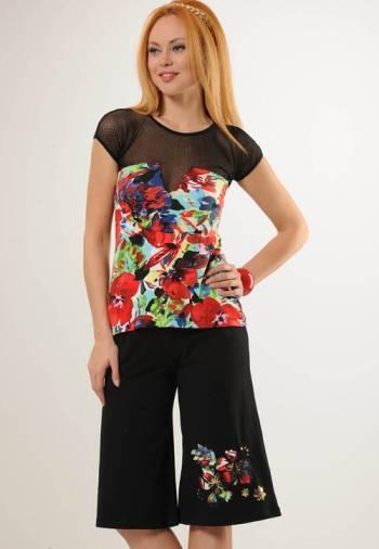 Anıt İç Giyim Bayan Çiçek Şort Takım 4368