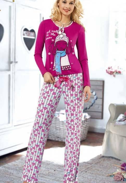 Anıt İç Giyim Baskılı Pijama Takım 4319