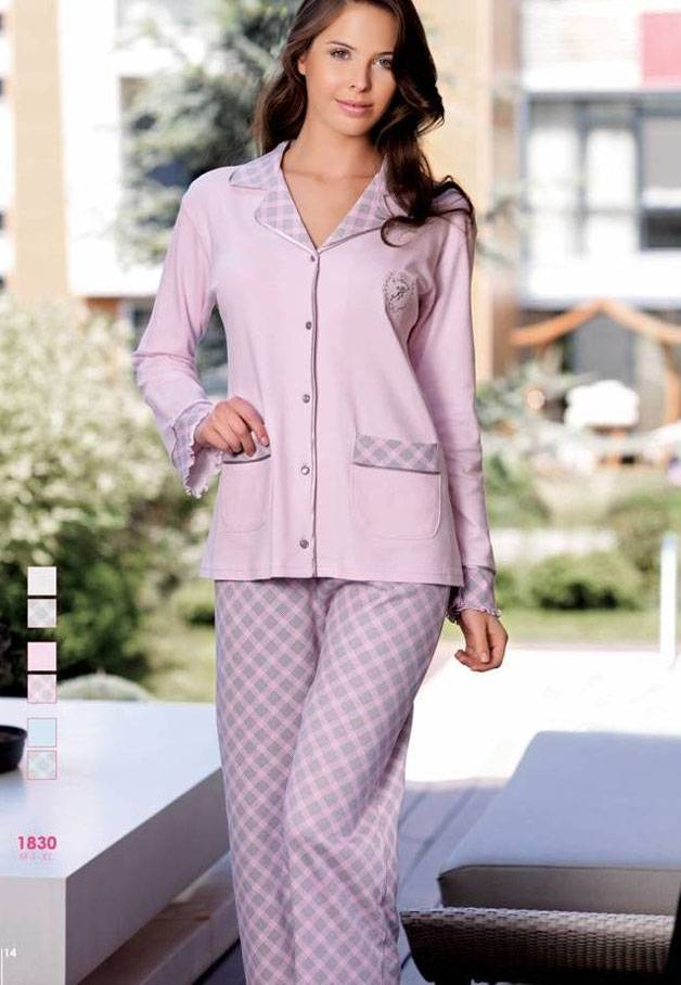 Artış Cepli Bayan Pijama Takımı 1830
