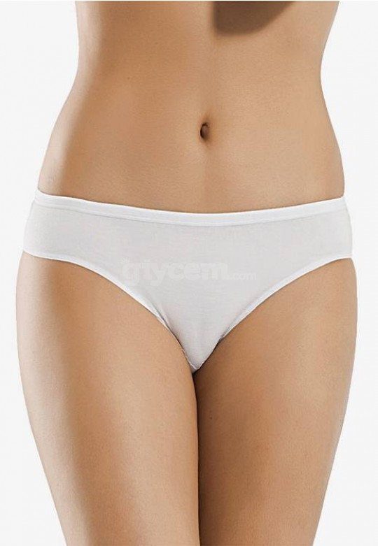 Düz Ribana Bikini Dörtlü (2 Beyaz + 1 Siyah + 1 Ekru) H-2143
