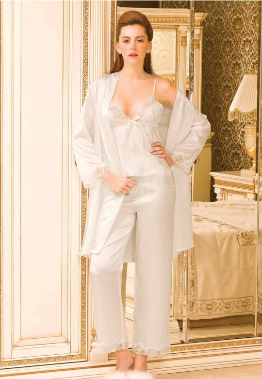 Bayan Saten Pijama Takımı 5942