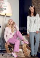 Pierre Cardin Puntolu Çiçek Patlı Pijama Takımı 8670