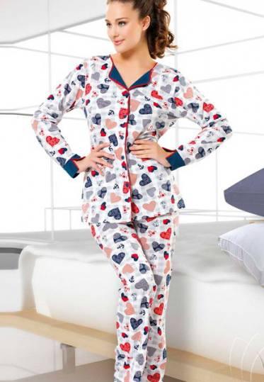 Gümüş Bayan Pijama Takımı 9315