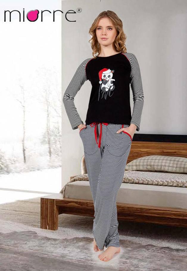 Miorre Bayan Uzunkol Pijama Takımı 001-018344