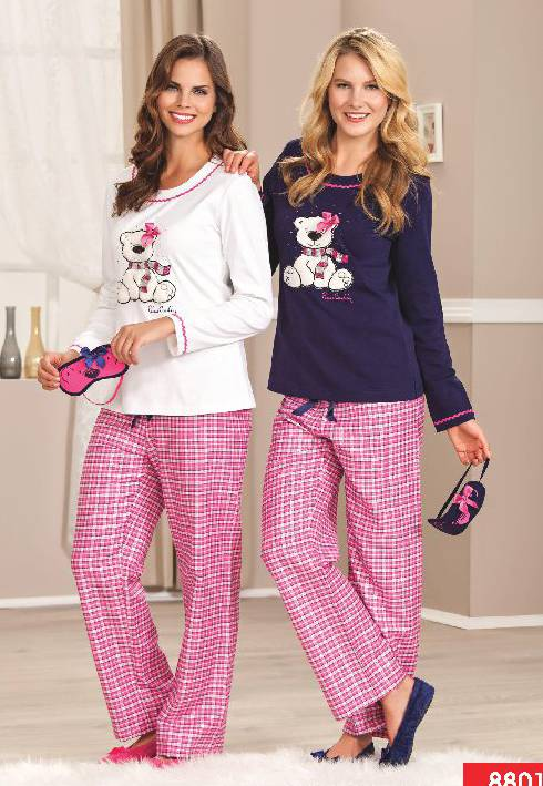 Pierre Cardin Yuvarlak Yaka Pijama Takım 8801