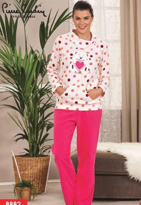 Pierre Cardin Polar Ayıcıklı Yakalı Pijama Takım 8882