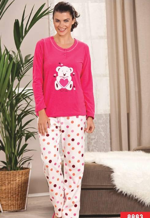 Pierre Cardin Polar Patlı Ayıcıklı Pijama Takım 8883