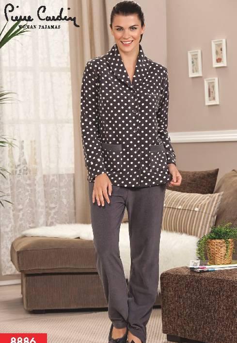 Pierre Cardin Polar Boydan Patlı Pijama Takım 8886