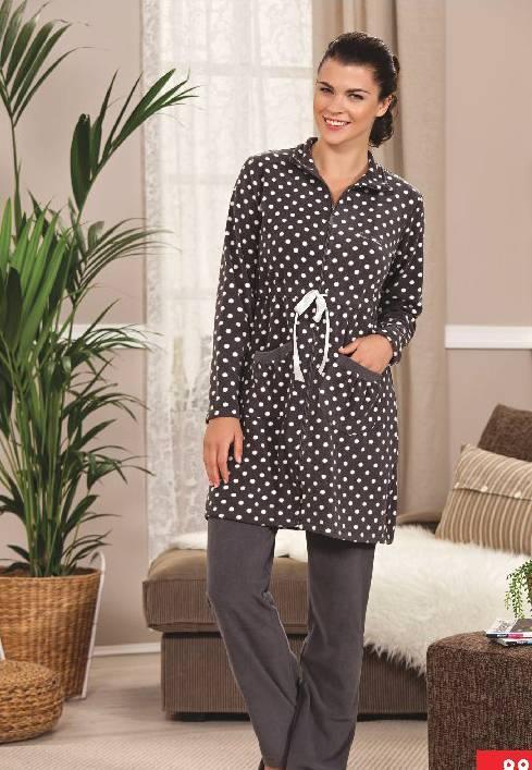 Pierre Cardin Polar Uzun Fermuarlı Pijama Takım 8887