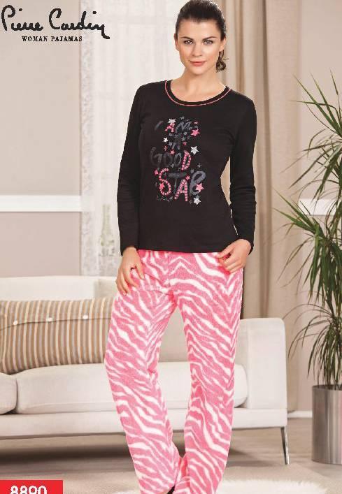 Pierre Cardin Polar Baskılı Pijama Takım 8890