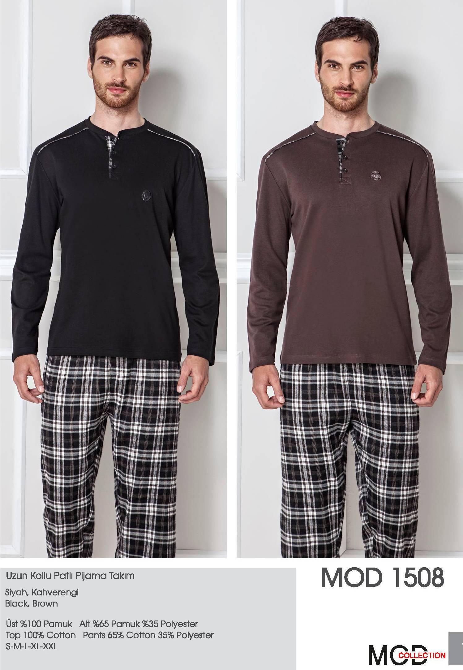 Mod Collection Bay Uzun Kollu Patlı Pijama Takım 1508