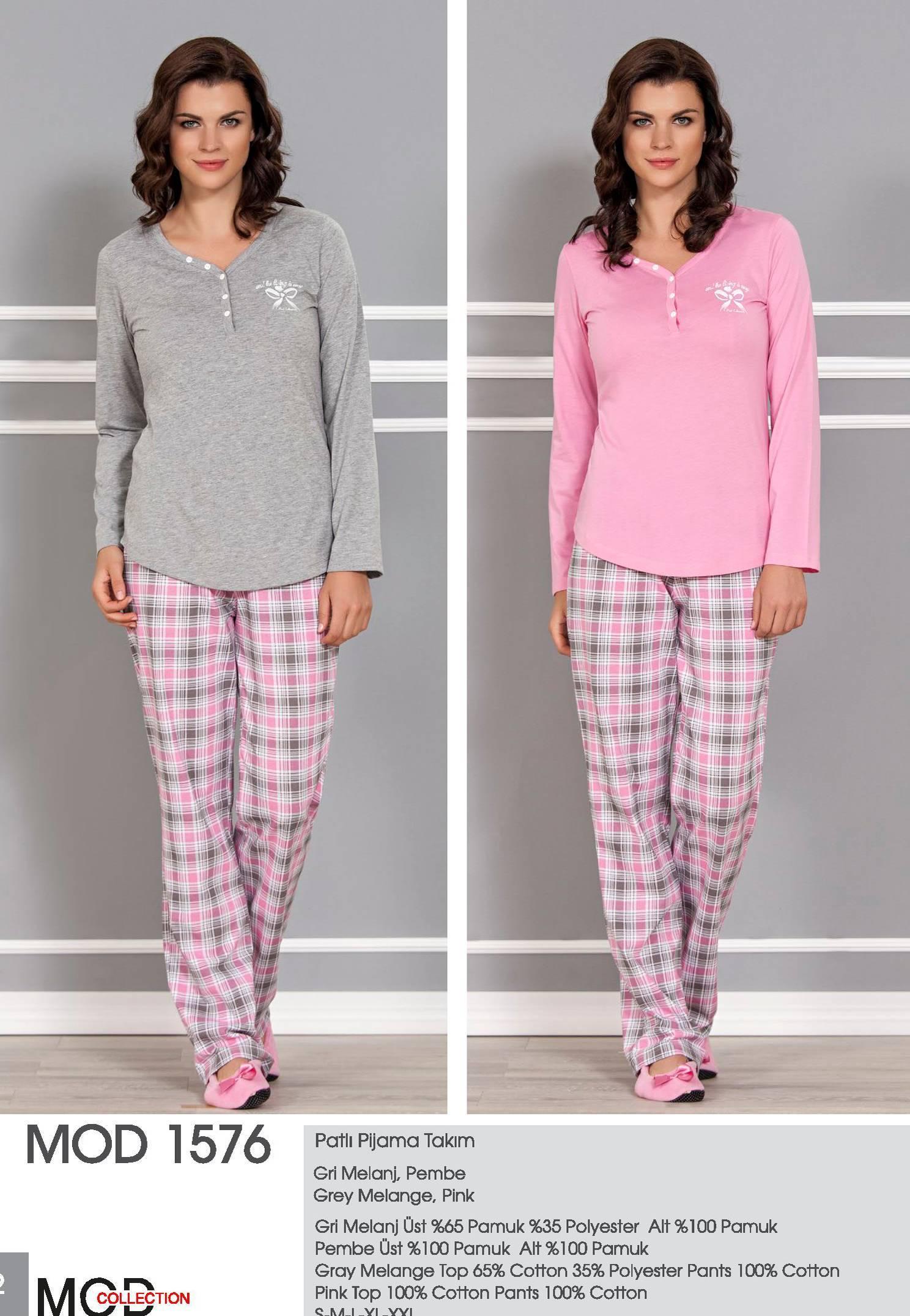 Mod Collection Bayan Patlı Pijama Takım 1576