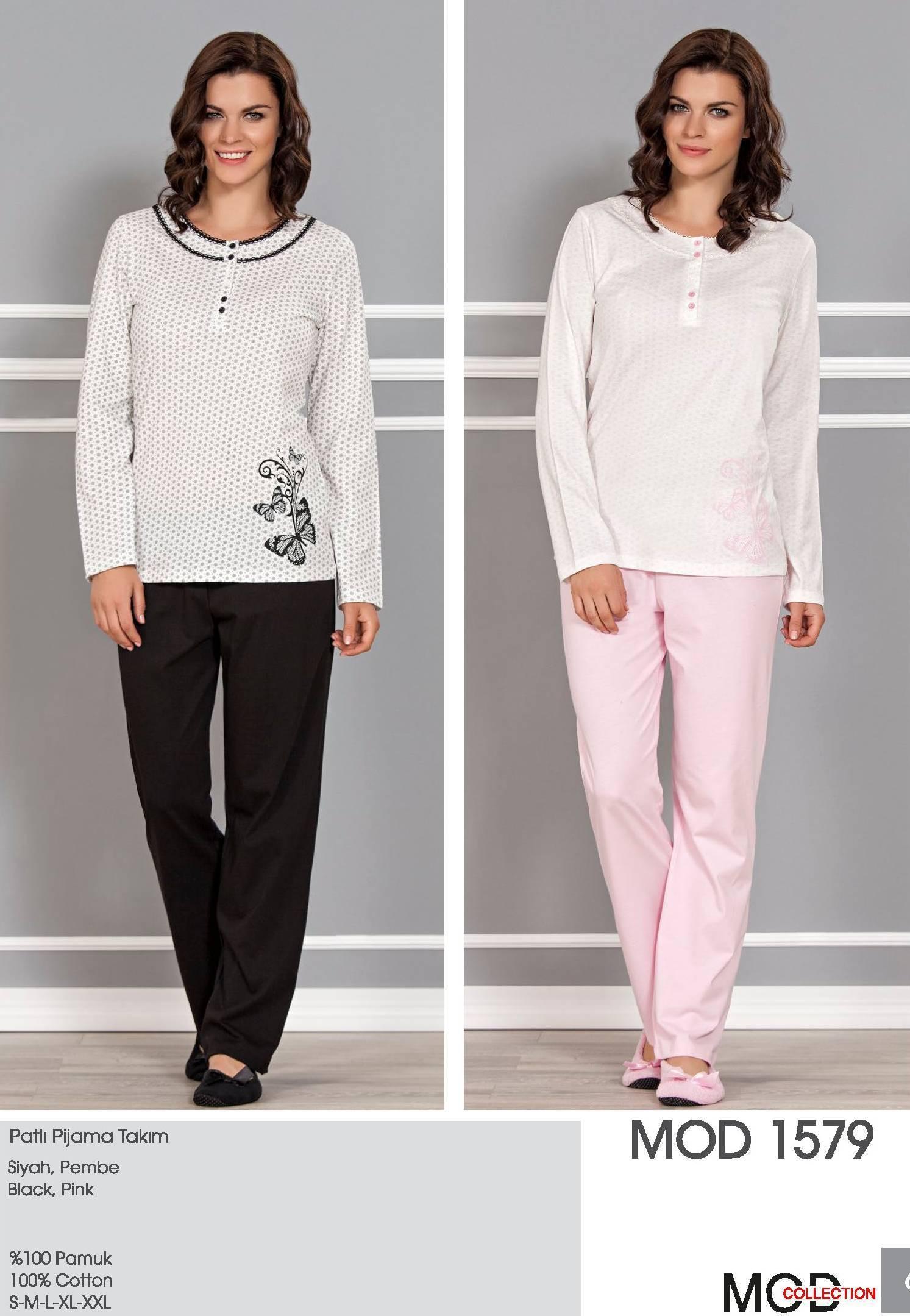 Mod Collection Bayan Patlı Pijama Takım 1579