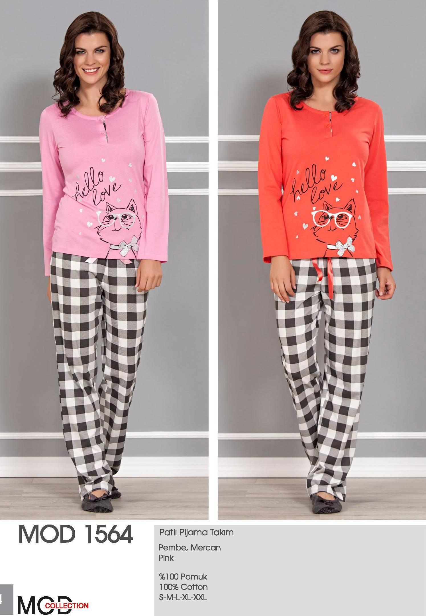 Mod Collection Bayan Patlı Pijama Takım 1564