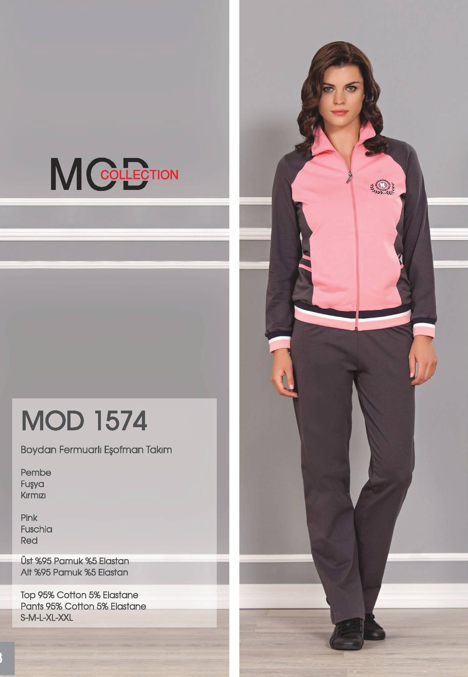 Mod Collection Bayan Boydan Fermuarlı Eşofman Takım 1574