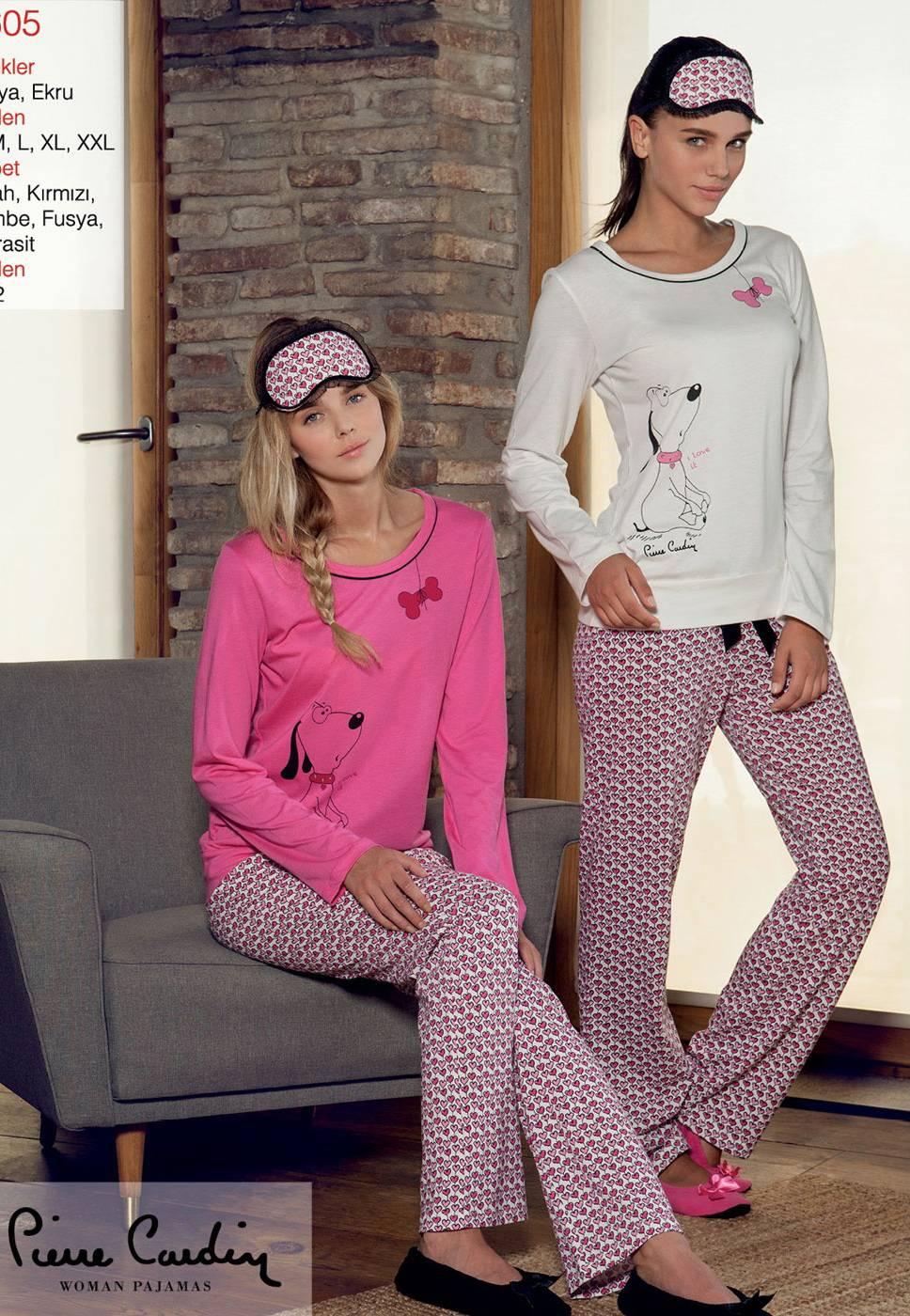 Pierre Cardin Minik Kalp 0 Yaka Pijama Takımı 8605