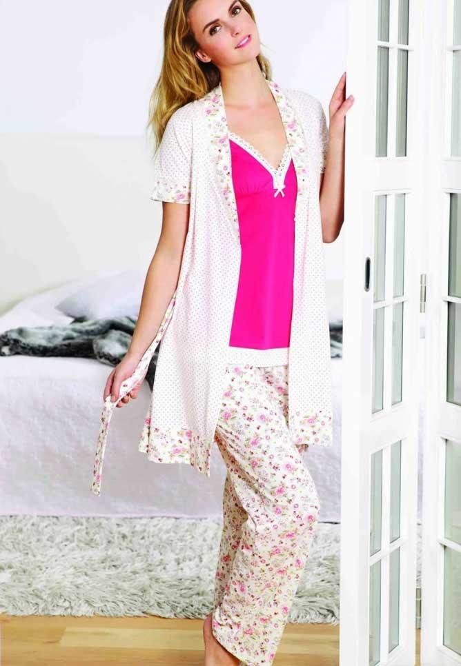 Yeni İnci 3 lü Süprem Bayan Pijama Takımı 658